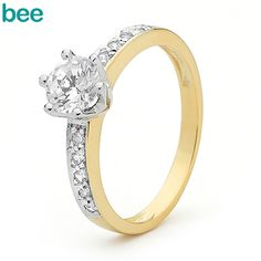 Nationwide Jewellers.  Bee Jewellery.  9ct Gold & Cubic Zirconia.  A One Carat Look for ONLY $299.