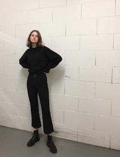 19b94921590d8f Black on black on white brick🏁 Black On Black Outfits