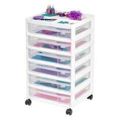 <div>Organizing your craft and scrapbooking projects is a breeze. This six-case storage system o...