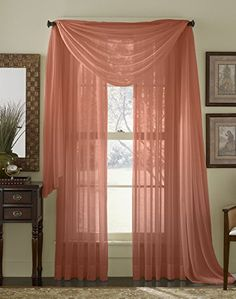 "95"" Long Sheer Curtain Panel - Rust (Burnt Orange) HLC.ME http://www.amazon.com/dp/B00W5Z4ZZE/ref=cm_sw_r_pi_dp_CTANvb0541EW1"