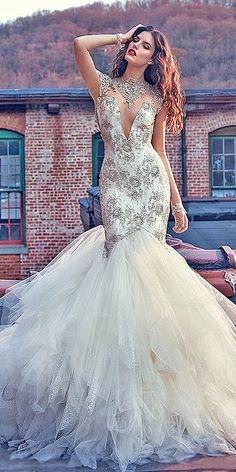 18 Mermaid Wedding Dresses From Top World Designers ❤ See more…