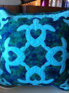 Hawaiian Quilt Patterns, Hawaiian Pattern, Hawaiian Quilts, Quilt Patterns Free, Applique Patterns, Applique Designs, Ocean Quilt, Beach Quilt, Quilting Projects