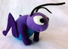 Cricket Plushie Lucky Bug stuffed toy Mulan by JanellesPlushies, $35.00