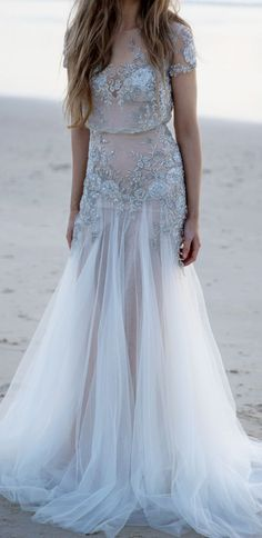Check out 10 of our favorite whimsical, romantic wedding gowns - with sleeves!From top to bottom there isn't a bead or piece of tulle out of place. It's such a complimentary silhouette to all body types.