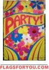 Groovy Hippie Party House Flag - 2 left Discount Flags, Hippie Party, Party Flags, House Flags, Garden Flags, House Party, Outdoor Blanket, Music, Decor