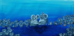 big koala family