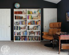 BEST HASHTAGS EVER!! |Office Updates with Ikea Bookshelves | http://www.thegatheredhome.com/