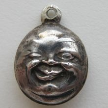 Antique Sterling Puffy Moon Charm