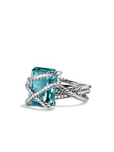 DAVID YURMAN Cable Wrap Ring with Diamonds. #davidyurman #diamonds