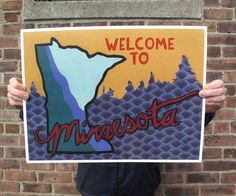 NEW  Welcome to MN 12x16 print by lindenleaf on Etsy, $25.00
