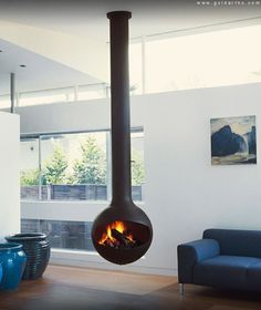 Suspended Fireplaces take Center Stage - Luxury News