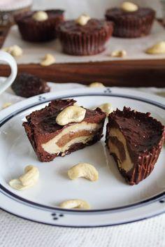 Chocolate Tahini Caramel Delights - Recipe Here: http://www.thisrawsomeveganlife.com/2012/11/chocolate-tahini-caramel-delights.html #vegan #lifestyle #food #dessert #chocolate #caramel #recipe #yum