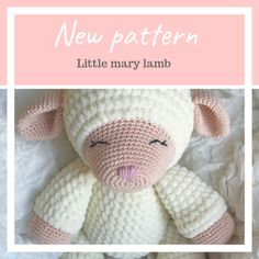 This is the bigger version of the popular little mary lamb lovey! This lamb works as a blanket and stuffie all Crochet Baby Blanket Free Pattern, Crochet Headband Pattern, Crochet Yarn, Free Crochet, Animal Knitting Patterns, Easter Crochet Patterns, Crochet Dolls Free Patterns, Romanian Recipes, Turkish Recipes