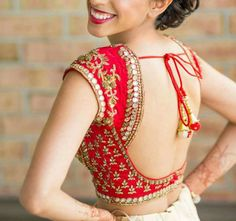 Top 10 Latest Backless Blouse Designs For Sarees & Lehengas Lates. - Top 10 Latest Backless Blouse Designs For Sarees & Lehengas Latest Backless Blouse D - Indian Blouse Designs, Choli Designs, Wedding Saree Blouse Designs, Sari Blouse Designs, Fancy Blouse Designs, Blouse Styles, Back Design Of Blouse, Latest Blouse Designs, Traditional Blouse Designs