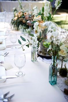I love the whimsical, natural feel of this table setting.