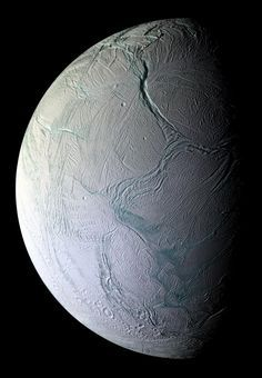 On Oct. 9, 2008, just after coming within 25 kilometers (15.6 miles) of the surface of Enceladus, NASA's Cassini captured this stunning mosaic as the spacecraft sped away from this geologically active moon of Saturn. Craters and cratered terrains are rare in this view of the southern region of the moon's Saturn-facing hemisphere. Instead, the surface is replete with fractures, folds, and ridges--all hallmarks of remarkable tectonic activity for a relatively small world.