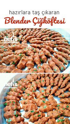 Blendır Çiğköftesi (Stones for Ready) - Leckere Rezepte - Pasta Recipes, Dessert Recipes, Desserts, Middle Eastern Recipes, Turkish Recipes, Easy Cooking, Quick Easy Meals, Food To Make, Brunch