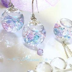 再販*♡紫陽花ネックレス♡*スノードーム