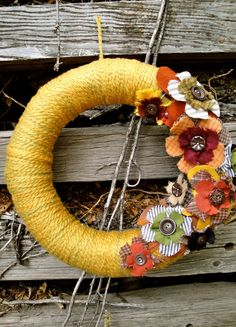 Fall Wreath Autumn Bouquet Wreath by thechicadeeshop on Etsy, $120.00