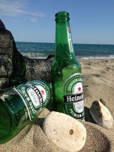 Una bella birra sulla spiaggia...