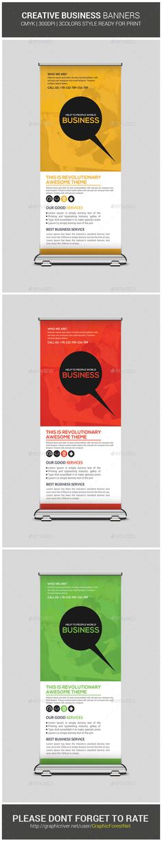Creative Business Rollup Banners — Photoshop PSD #business banners #rollup bundle • Available here → https://graphicriver.net/item/creative-business-rollup-banners-/10260999?ref=pxcr