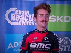 Taylor Finney sporting a very dashing mustachio....tour of GB 2016 my phone pin *A*