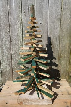 Rustic Wood Christmas Tree, I want to make one of these to put on my front porch :)