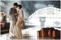 Train station wedding shoot. Shot for Haper's Bazaar Indonesia by Nicoline Patricia Malina via http://fleurishstudio.blogspot.co.uk