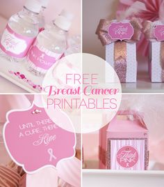 Free Breast Cancer Awareness Month Printables on http://frogprincepaperie.com
