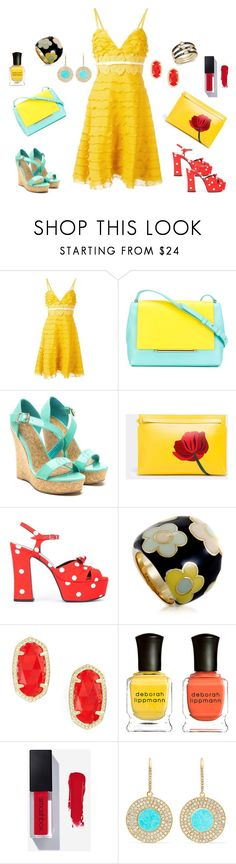 """Ray of Light"" by cynthiahawthorne ❤ liked on Polyvore featuring Giambattista Valli, Delpozo, Loewe, Yves Saint Laurent, Pasquale Bruni, Kendra Scott, Deborah Lippmann, Jennifer Meyer Jewelry and Bloomingdale's"