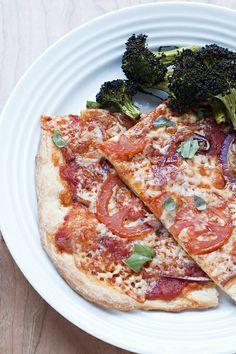 Smokey No-Knead Pizza