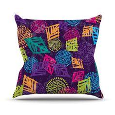 African Beat Throw Pillow
