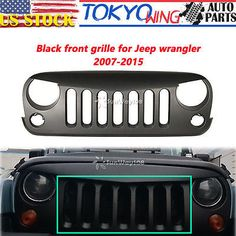 Front Grille Grill Matt Black Angry Bird For 2007-16 Jeep Wrangler JK Rubicon 15