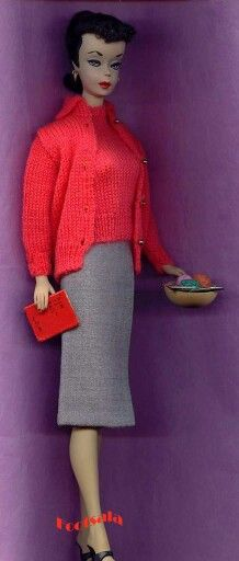 """No. 1 Barbie wearing """"Sweater Set"""" from the collection of Gene Foote."""