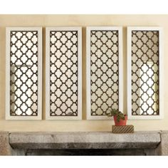 I love this take on quatrefoil.  These remind me of castle windows.  Beautiful!