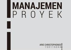 Project Management design cover. For final semester.