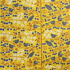 Almedahls Scandinavian Fabric - Marianne Westman designed this print in what a shining example of how good design stands the test of time! Scandinavian Fabric, Scandinavian Design, Marimekko, Surface Pattern, Surface Design, Textile Design, Fabric Design, Fabric Patterns, Print Patterns