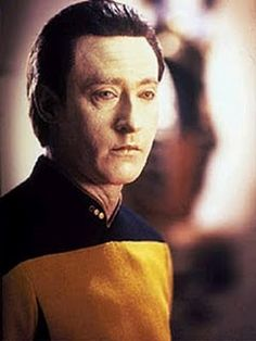 Lt. Commander Data, the best android officer of the Enterprise in Star Trek: The Next Generation.