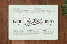 Examples of Unique Wedding Invitations   21st - Bridal World - Wedding Ideas and Trends