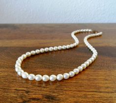 Vintage Freshwater Pearl Necklace by RagNBoneVintage on Etsy, $48.00