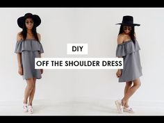 DIY | HOW TO MAKE A OFF THE SHOULDER DRESS - YouTube