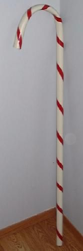 DIY Candy Canes made from PVC pipe. For outdoor Christmas decorations