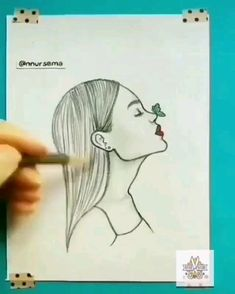 65 Ideas cool art drawings sketches for 2019 Easy Pencil Drawings, Girl Drawing Sketches, Art Drawings Sketches Simple, Cute Drawings, Drawing Ideas, Girl Sketch, Pencil Sketch Art, Tumblr Drawings Easy, Girl Drawing Images