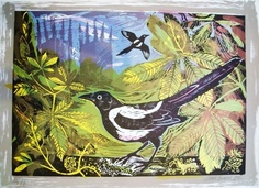 'Magpie and Minster' by Mark Hearld (lithograph) School Murals, Glasgow School Of Art, Chicken Art, Royal College Of Art, Wildlife Art, Bird Art, Graphic Illustration, Painting & Drawing, Art Projects