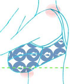 ¿Qué es un Fitting Bra?   Soloisa. com Cuando la talla del sujetador (contorno) es demasiado grande, se sube y el peso del pecho recae sobre los tirantes y la base del torax.