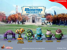 #MonstersUniversity by #HotToys: Vinyls & Cosbabys = http://toysrevil.blogspot.sg/2013/06/monsters-university-by-hot-toys-vinyls.html