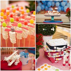 Airplane Themed 1st Birthday Party with Such Cute Ideas via Kara' s Party Ideas | KarasPartyIdeas.com #AirplaneParty #AviatorParty #PartyIde...