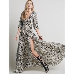 Spell Byron Bay Wild One Gown leopard maxi duster Show Stopping dress with thigh slit! This fabulous chiffon dress is sold out everywhere and honestly I don't think Spell is coming out with this design again so if you've been lusting over this print, now is the time to get it! This dress is so flowy and beautiful, and can be worn either buttoned up as a maxi or unbuttoned as a kimono/duster. Slightly sheer. I will post more photos tomorrow when the light is good. Worn twice.  Brand new…