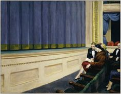 First Row, Orchestra: 1951 by Edward Hopper
