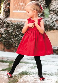 For a truly festive look this season dress your little lady in our bow twill dress.